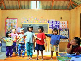 Sunshine Kids Centre children dancing